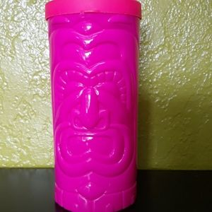 3 / $15 Hot Pink Tiki Travel Mug / Cup
